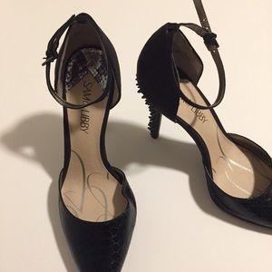 Sam & Libby Black Spikey Heels | 8.5